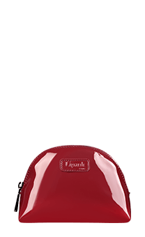 Lipault Plume Vinyle Cosmetic Pouch M  Ruby
