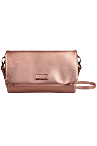 Lipault Miss Plume Clutch Bag M  Pink Gold