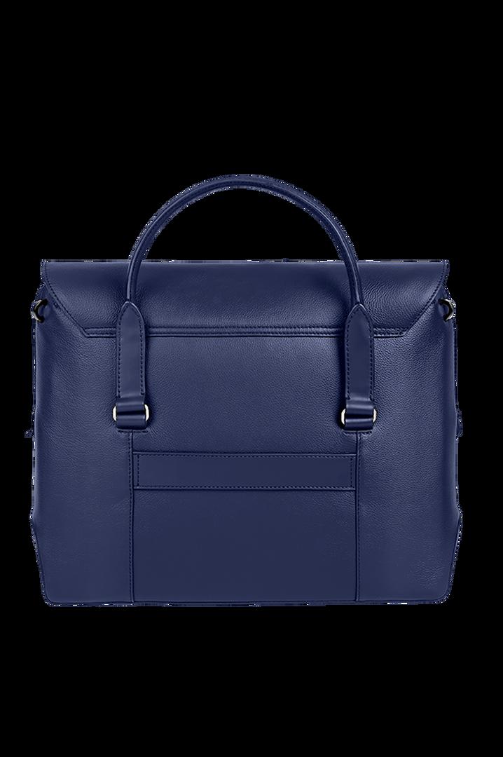 Plume Elegance Laptop Handtasche Navy   2