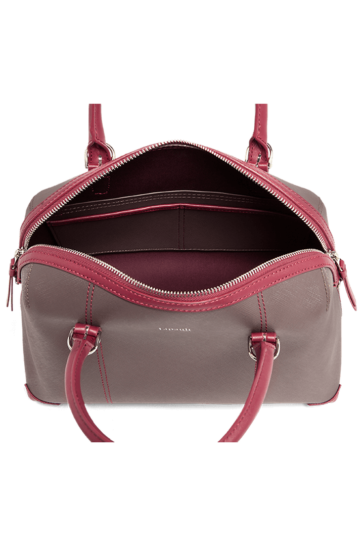 Variation Boston Tasche Grey/Raspberry | 2