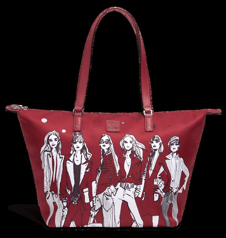 Izak Zenou Collab Shopper M Pose/Garnet Red   1