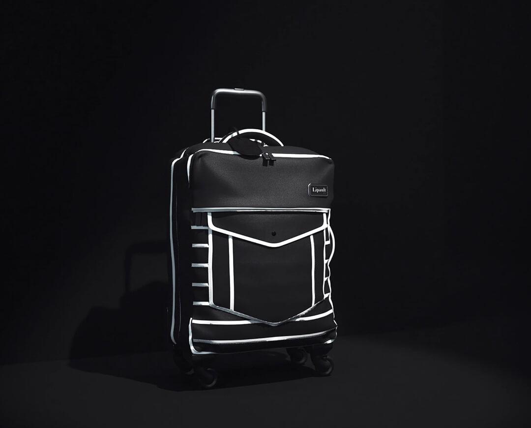 nite box trolley mit 4 rollen 55cm black suit lipault. Black Bedroom Furniture Sets. Home Design Ideas