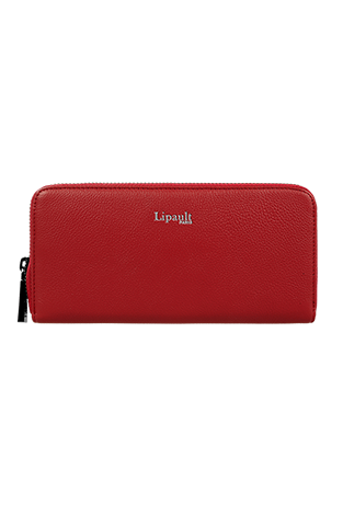 Lipault Plume Elegance Zip Around Wallet  Ruby